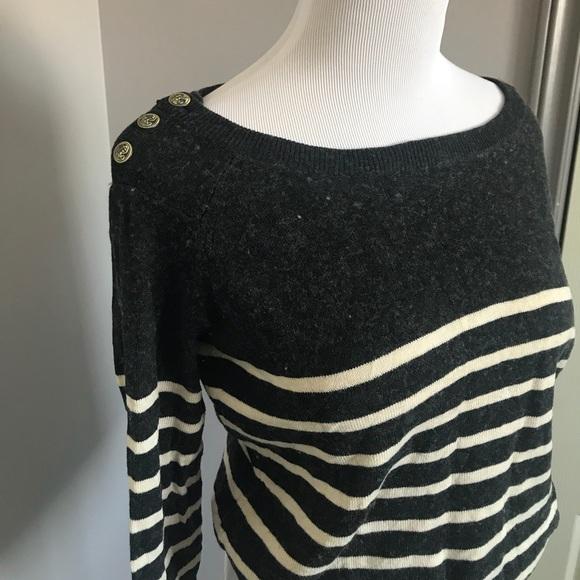 Wool blend striped Aritzia sweater
